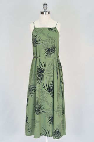 LEAFY TENT DRESS