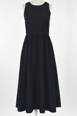 CUT IN MIDI SKATER DRESS WITH MASK