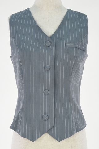 PIN STRIPE WAIST COAT WITH MASK